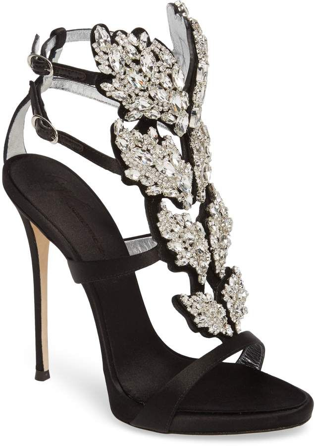 ccc0cd5af Giuseppe Zanotti Cruel Wing Crystal Embellished Sandal | Products ...