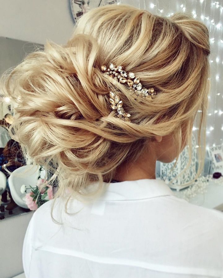 Messy Wedding Updo Hairstyles: Gorgeous Messy Bridal Hair Updos