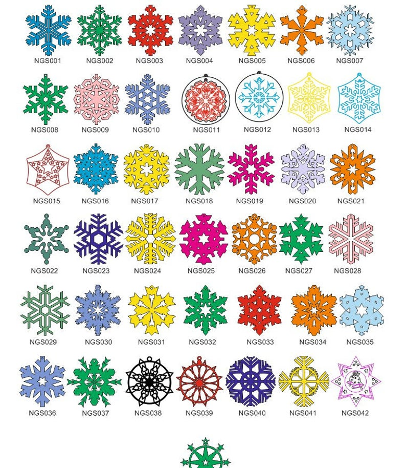 Christmas snowflakes and decorations. Vector dxf cdrsvg