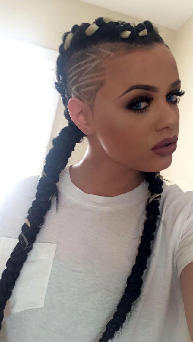 Braids cornrows sidecut | Hairstyles | Hair styles, Hair ...