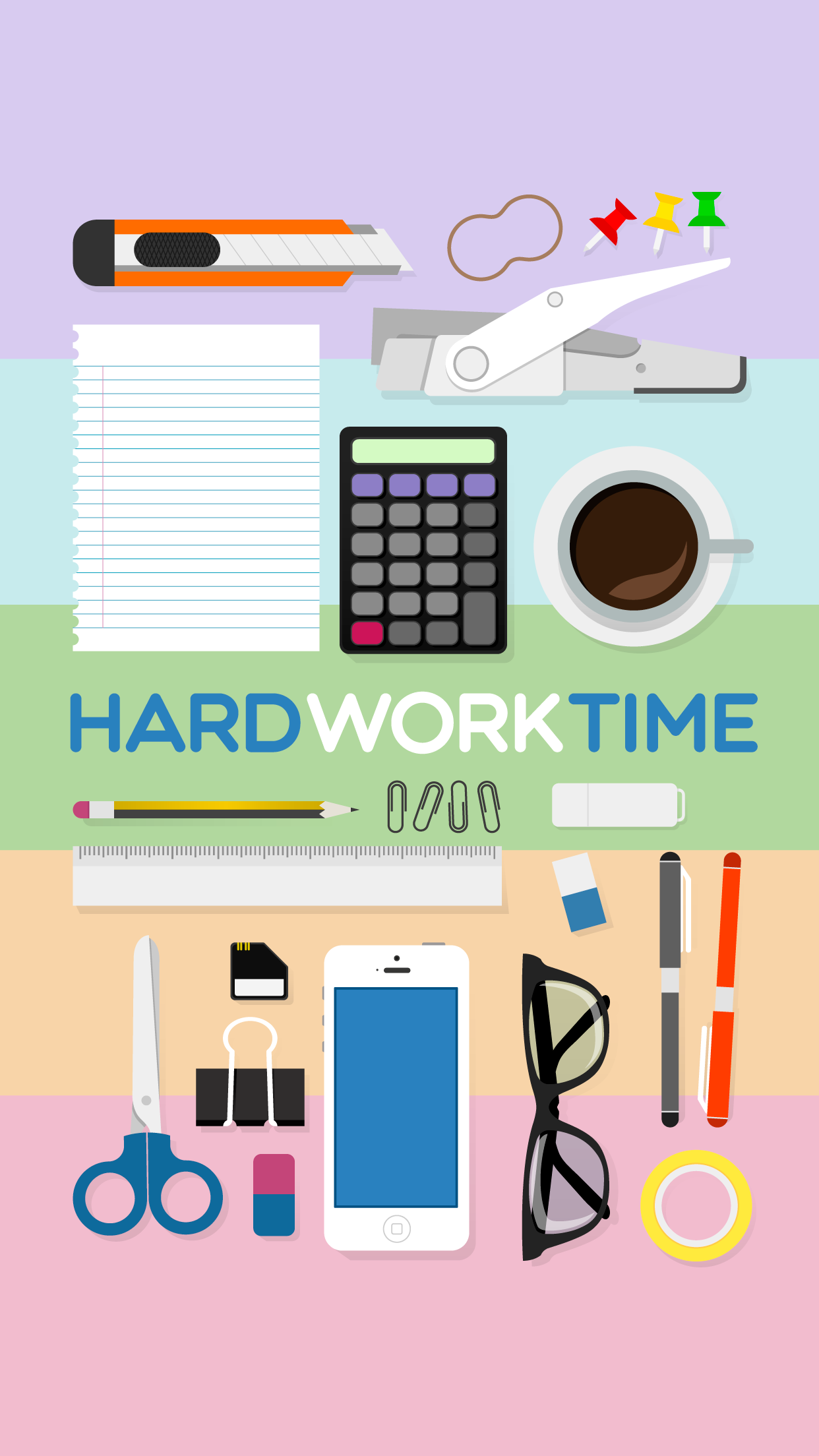 Tap And Get The Free App Art Hardwork Time Multicolored