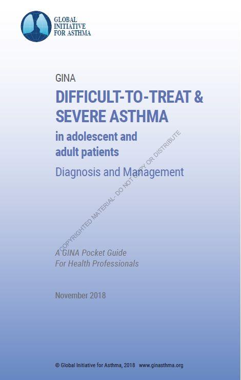 2018 GINA Severe Asthma Pocket Guide: Diagnosis and ...