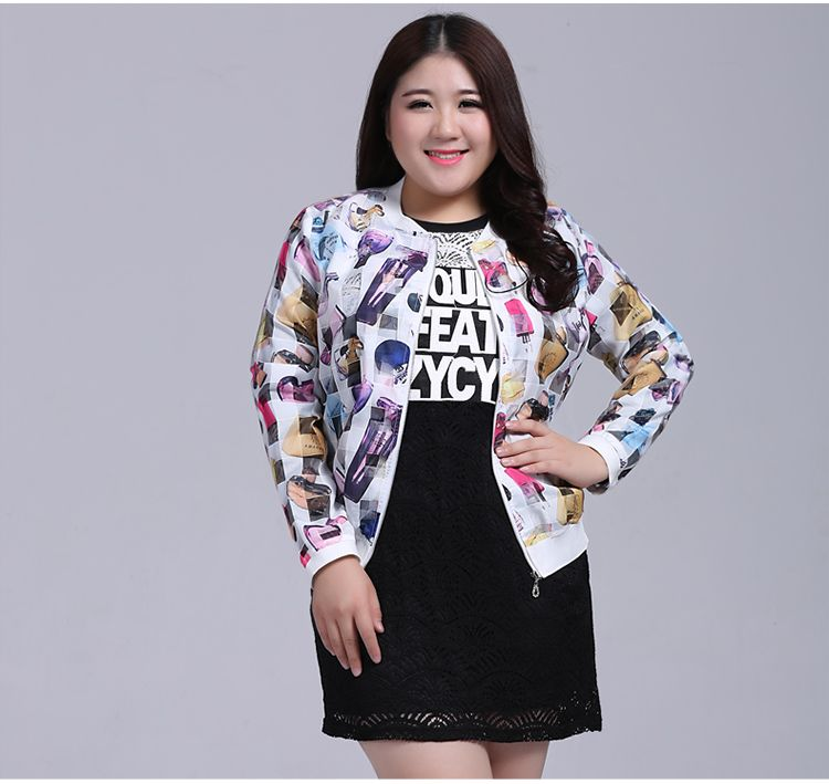 Print bomber jacket up to 7xl China size, US$35