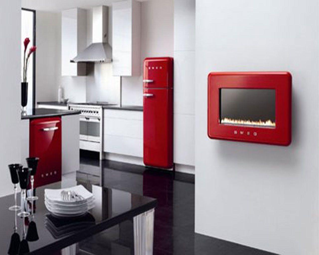 Kitchen - red appliances  Rich Red  Pinterest