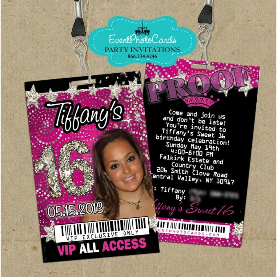 Sweet 16 Vip P Invitations With