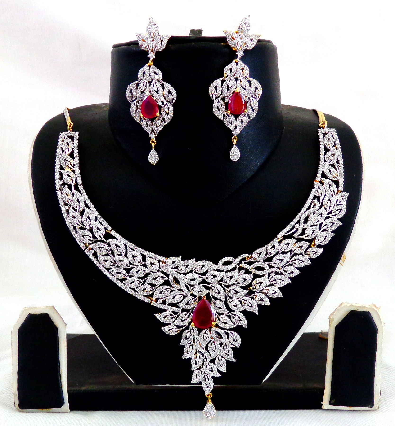 fashion jewellery american diamond earring bollywood style