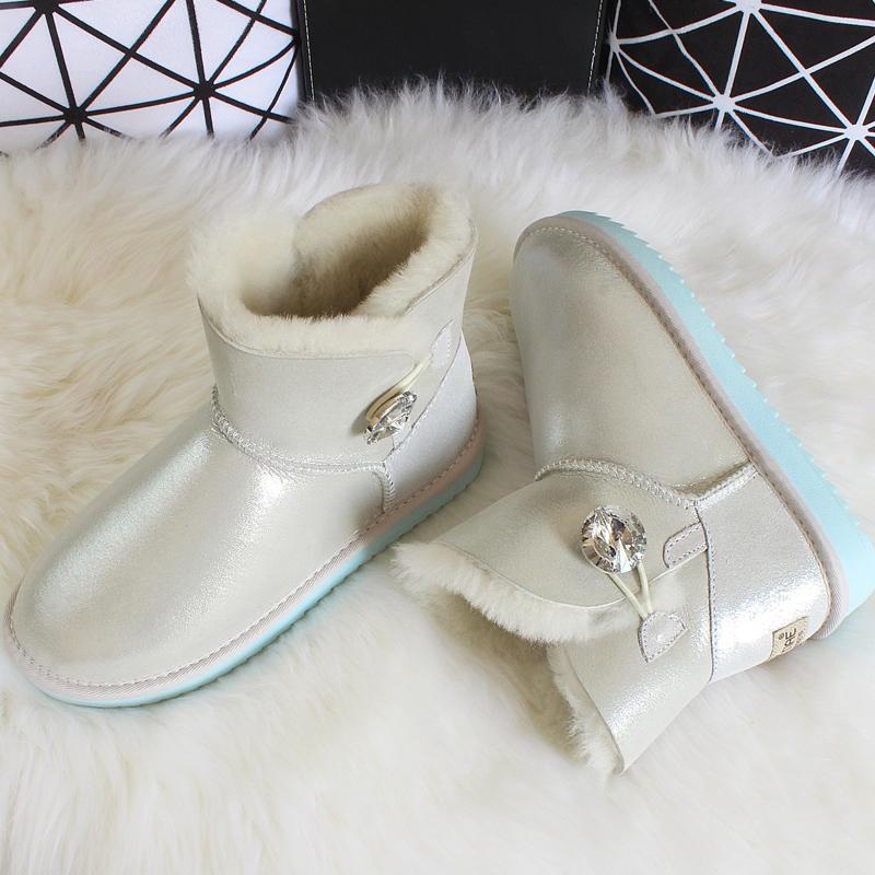 Timetang Fashion Keep Warm Down Thick Fur Women Snow Boots Platform Shoes Footwear Mid Calf Half Winter Boots Women Botas Office & School Supplies