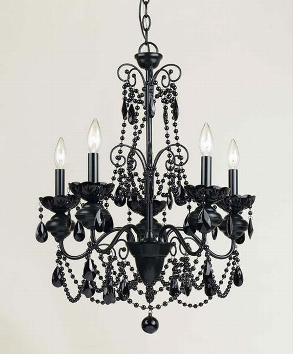 AF Lighting Black Mischief Five Light Chandelier in Black Finish    Flown Chandelier