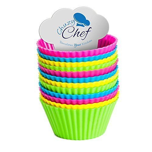Reusable Silicone Nonstick Baking Cups Assorted Colors Cupcake