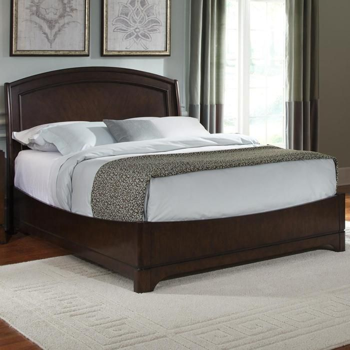 Murphy Bed Nfm: Avalon King Panel Bed In Dark Truffle