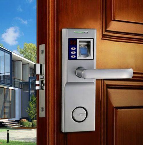 Thumbprint Door Lock Hac0 Com Door Locks Garage Door Keypad Doors