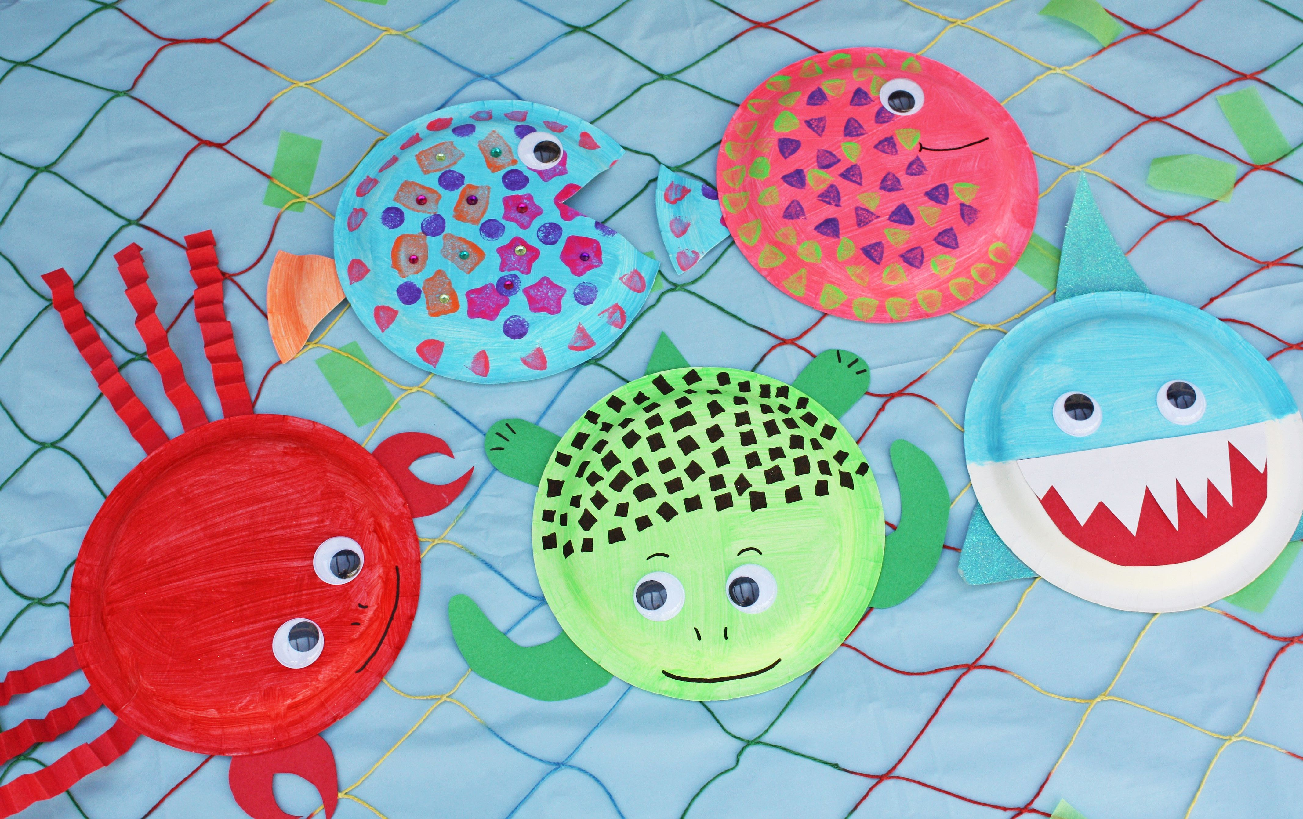 Paper Plate Sea Creatures Craft