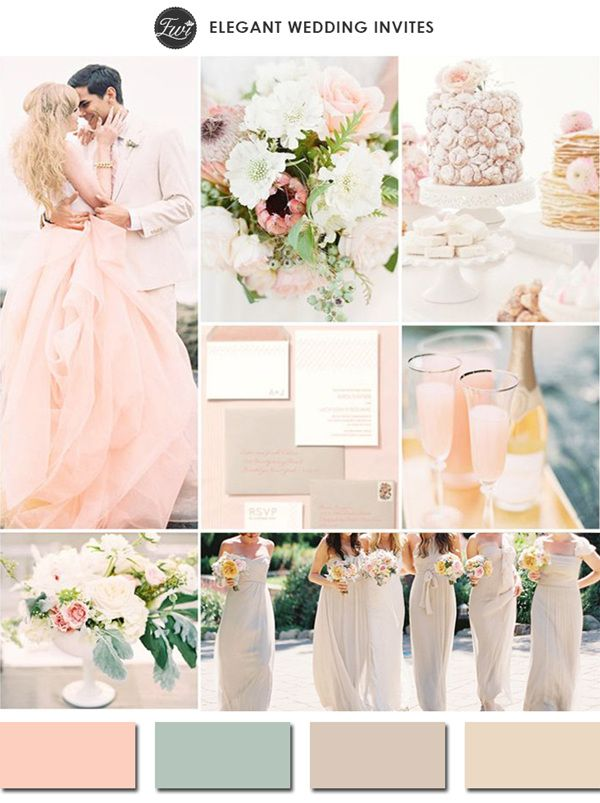 Chic Blush Pink And Neutral Wedding Color Scheme Ideas