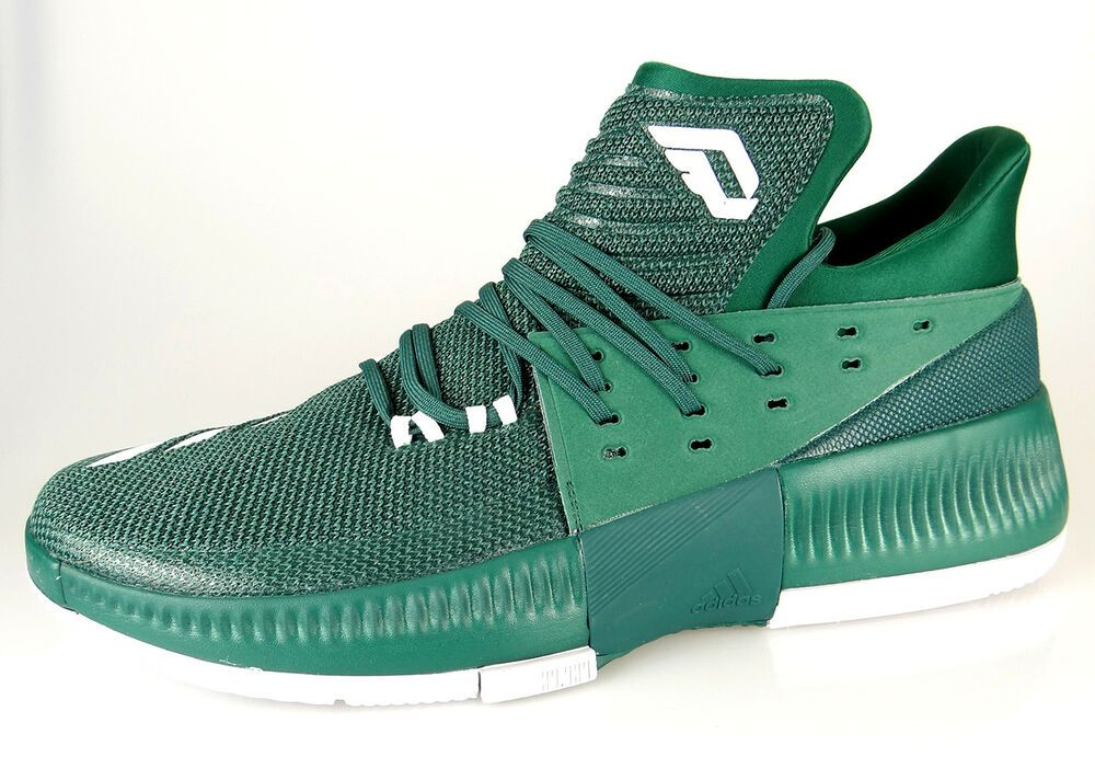 pretty nice b465f 5fbef  BY3194  Mens Adidas Dame 3 Damien Lillard- Green Basketball Shoe   eBay