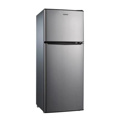 This Galanz Dual Door Compact Refrigerator Features Adjustable Mechanical Thermostat 2 Full And 1 H Compact Refrigerator Refrigerator Mini Fridge With Freezer