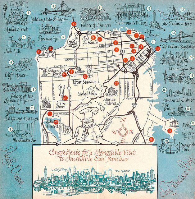 1963 San Francisco Tourism Map | Design-Cities and
