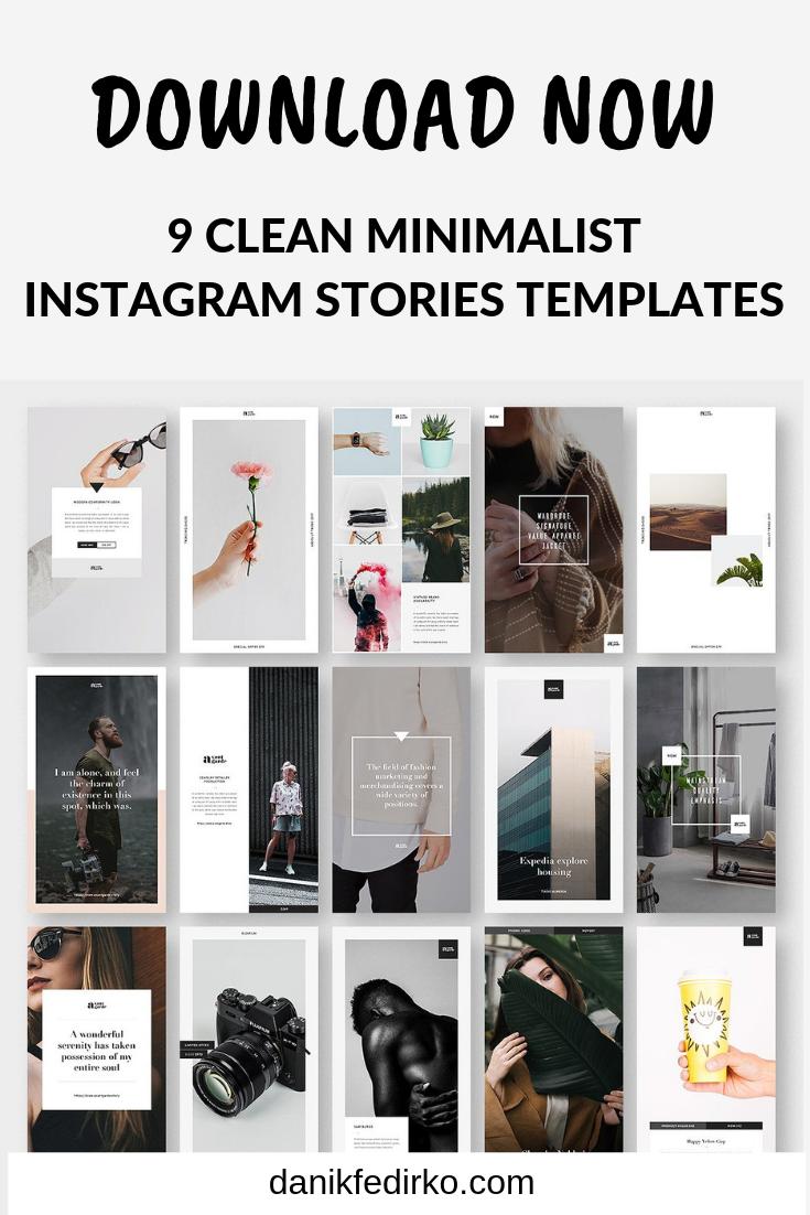 9 Clean Minimalist Instagram Stories Photoshop Templates