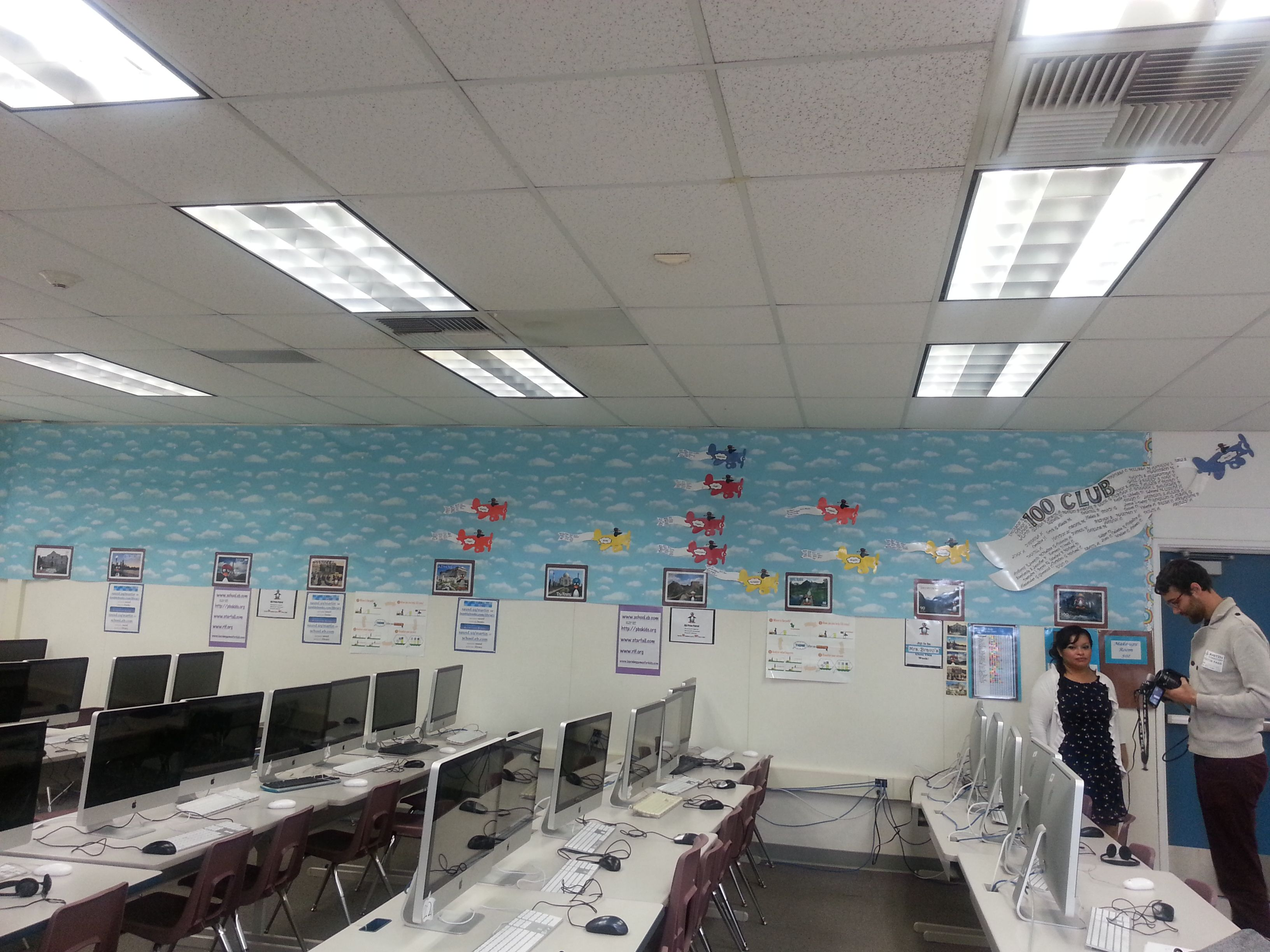 The ST Math progress board at Martin Elementary in Santa Ana, CA ...