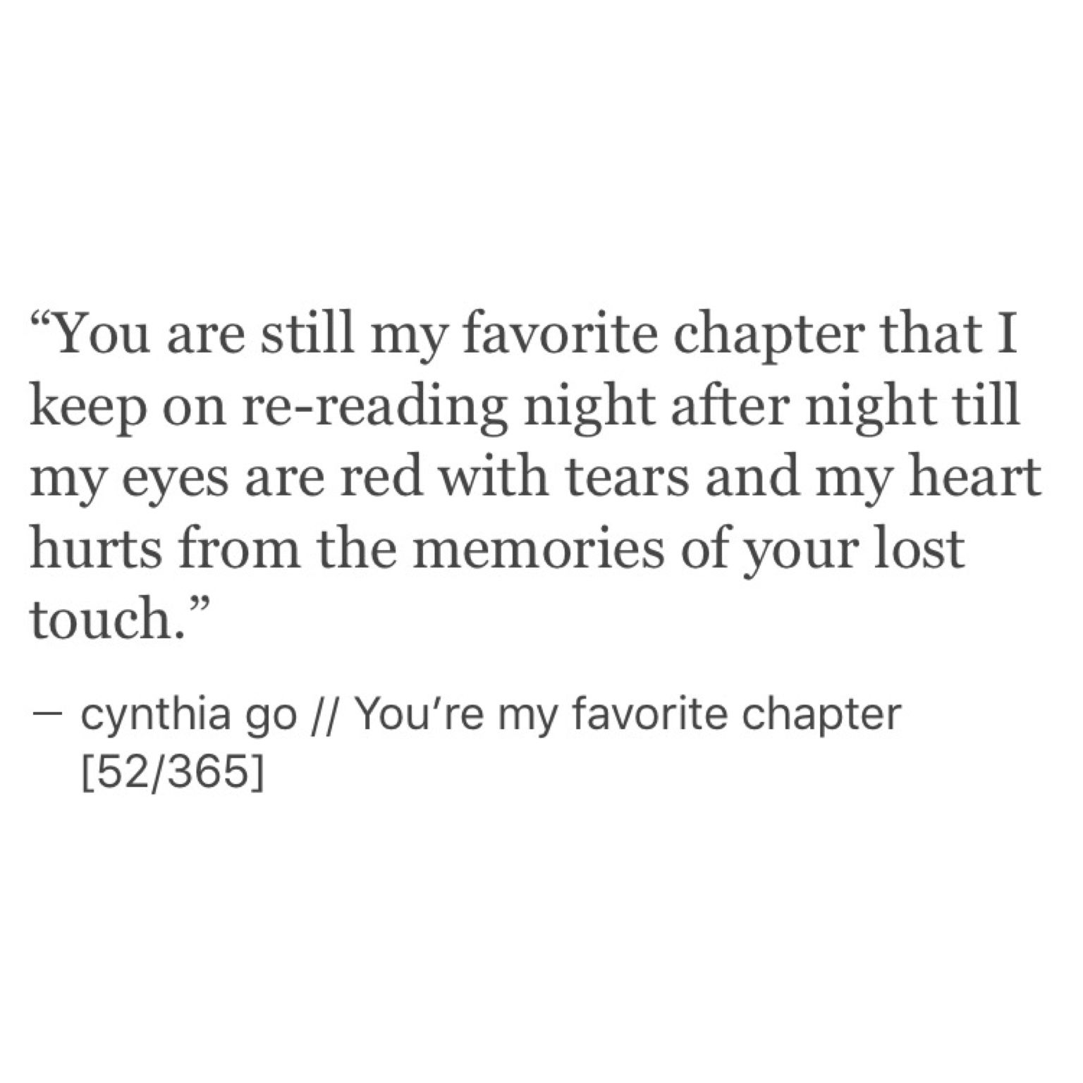 You're My Favorite Chapter