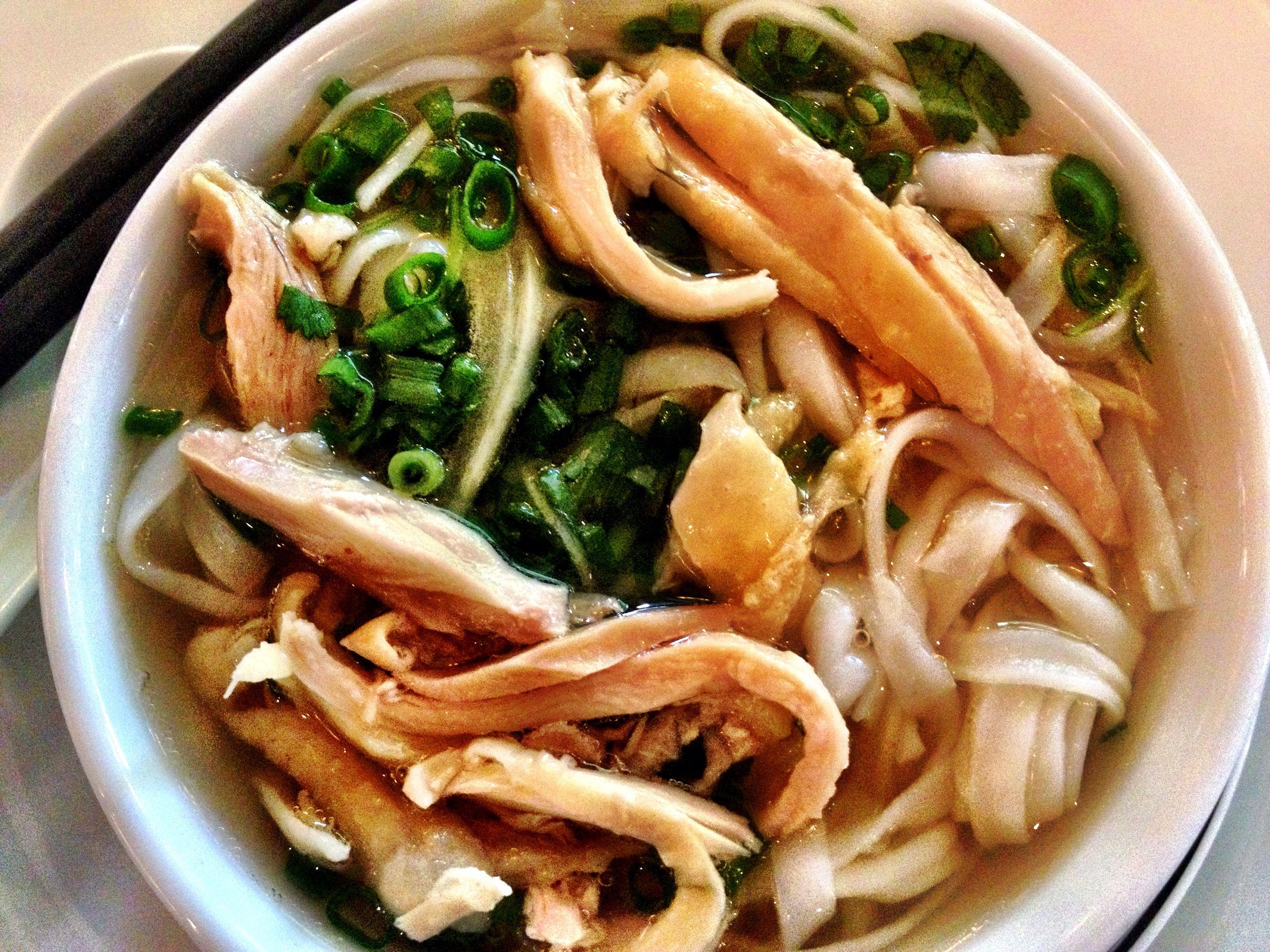 Vietnamese pho with chicken