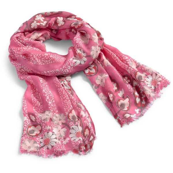 Vera Bradley Soft Fringe Scarf in Blush Pink Cheetah (150 BRL) ❤ liked on Polyvore featuring accessories, scarves, blush pink cheetah, viscose scarves, vera bradley, vera bradley scarves, pink scarves and fringed shawls