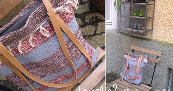 Anleitung Tasche selber nähen aus gewebtem Teppich | DIY & Upcycling ...