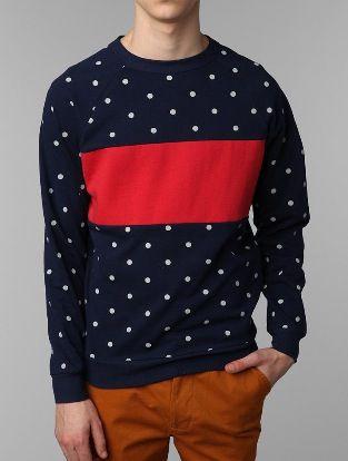 Mens Polka Dot Sweater My Style In 2018 Sweatshirts Fashion