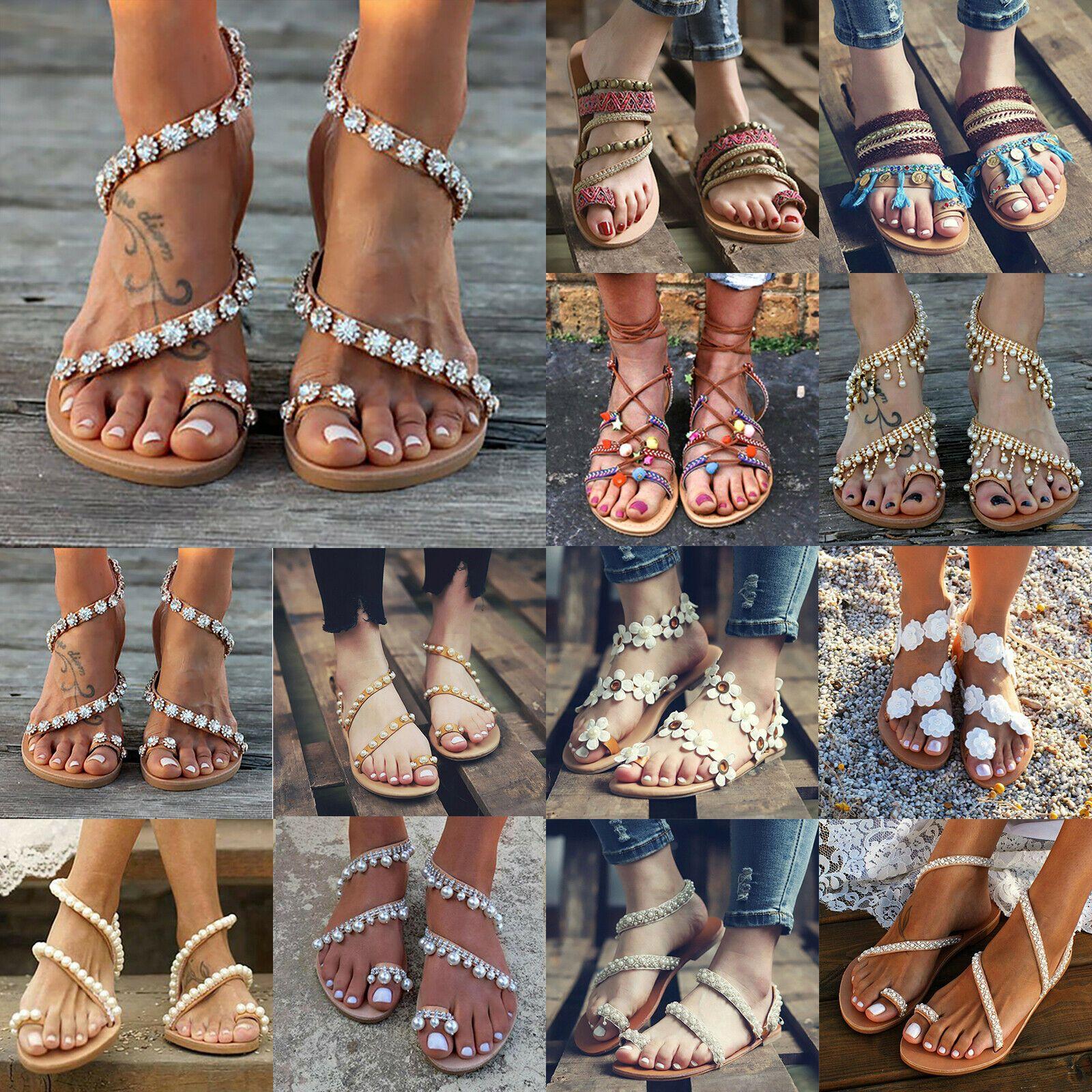 Mit Absatz Bohemian Sandaletten Damen, Günstige Sandalen