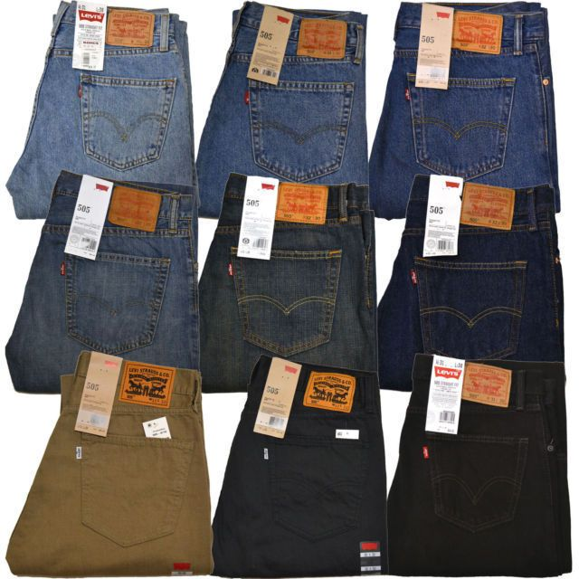 $26.99 Levis 505 Jeans Straight Fit Original Mens Jean 29 30 31 32 ...