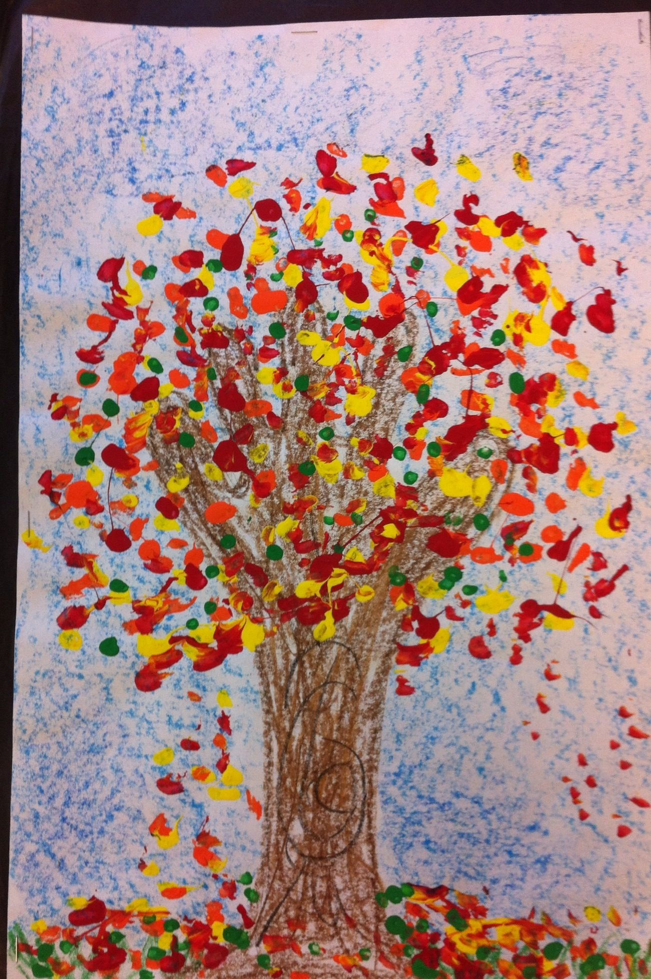 Kindergarten Tree Project Hand And Arm For Trunk With
