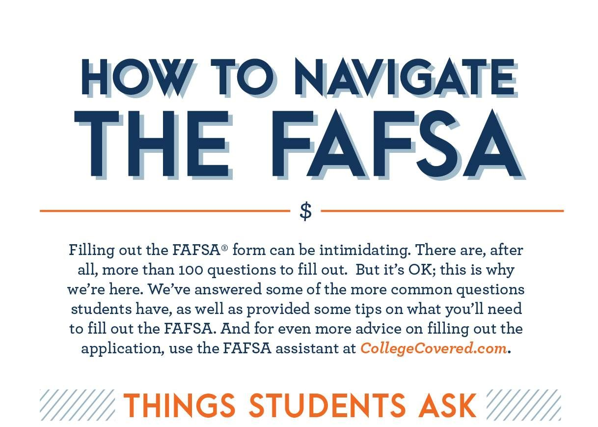 Infographic Breaking Down The Fafsa  Students College And