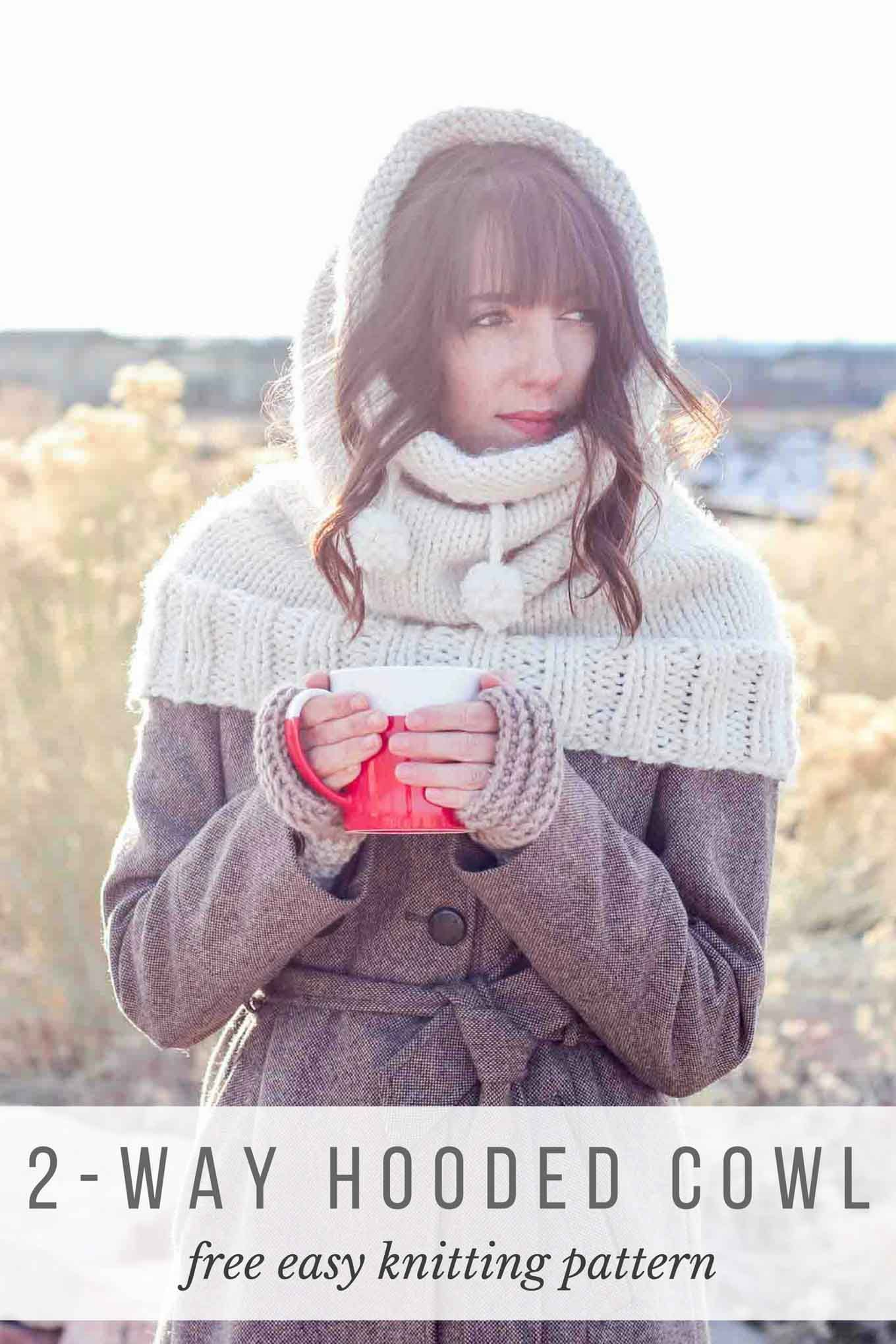 The Huggle\' Hooded Cowl – Free Knitting Pattern   Lion brand wool ...