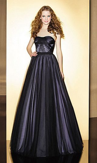 Floor Length Soft Sweetheart Gown at SimplyDresses.com