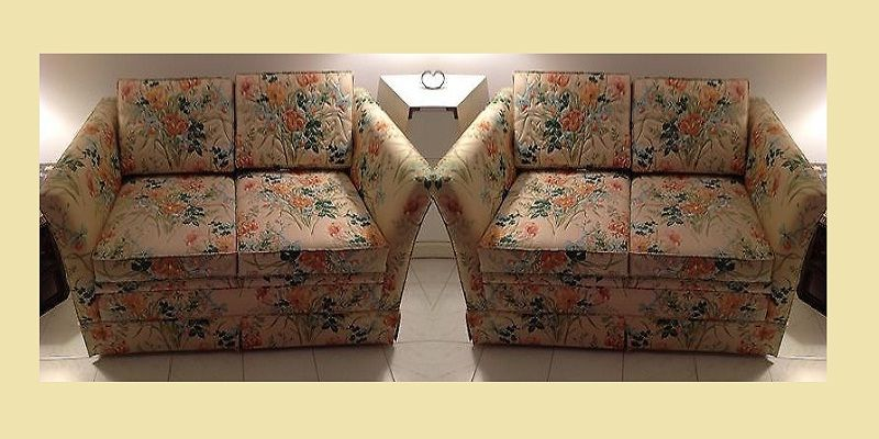 Castro Convertible Sofa Bed Sleeper Vintage Couch Two Seater Fl Pattern