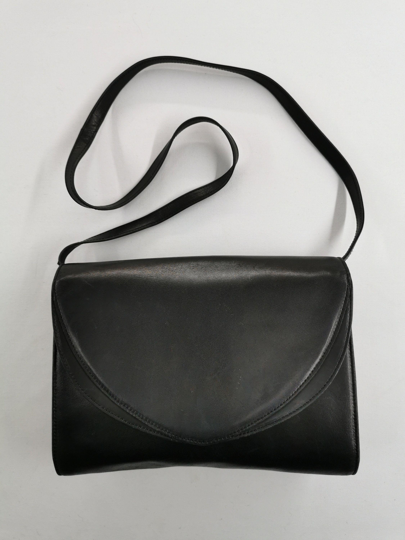 Vintage Pierre Balmain black leather shoulder bag Sale