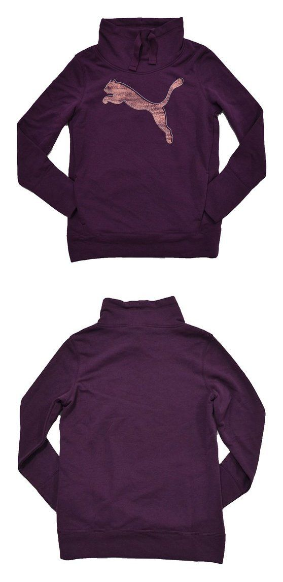 7cfc0de5b173 Puma Womens French Terry Pullover Sweatshirt (Italian Plum