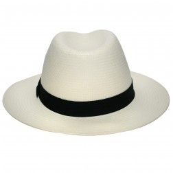 Chapéu de Palha Panamá Marcatto Casual Fita Preta c872c6a5a50