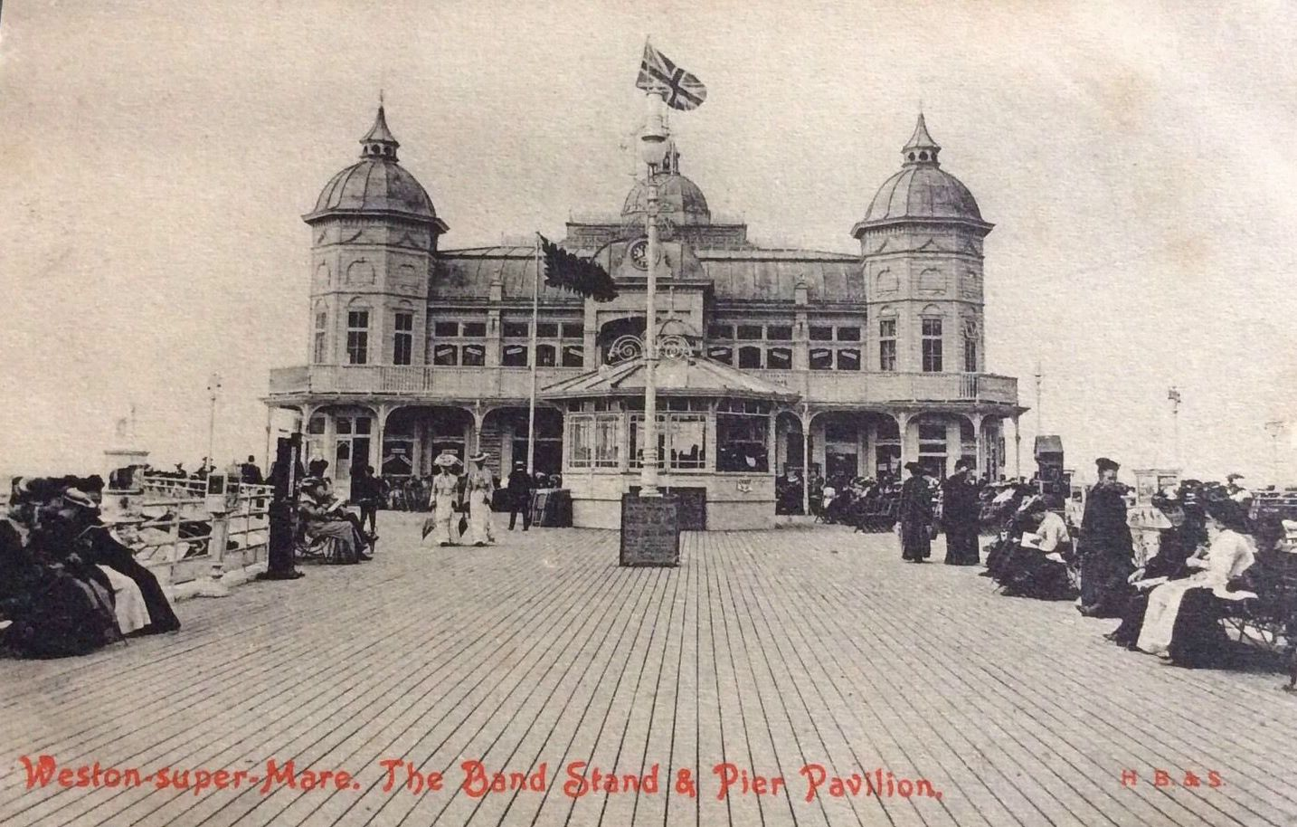 the bandstand on the pier at weston super mare somerset england
