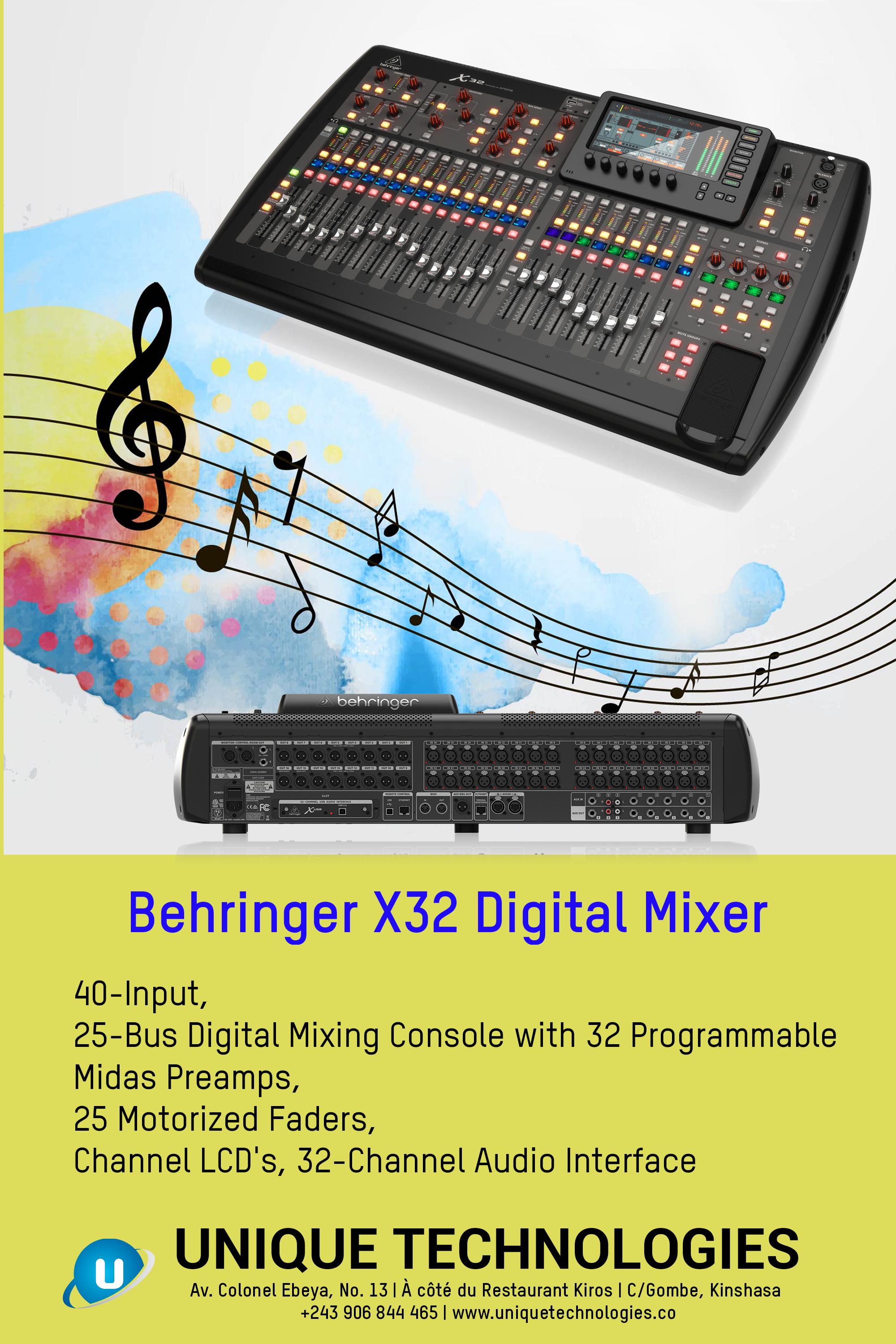 Behringer X32 Digital Mixer In 2020 Music System Digital Behringer X32