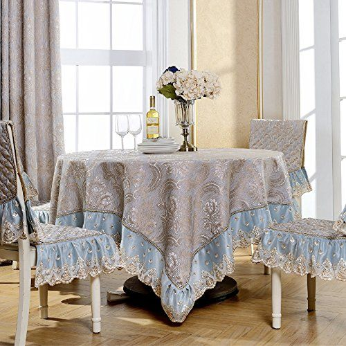 Wfljl European Style Tablecloth Cotton Decoration Kitchen Coffee Table Dining Table Cover Cloth 60x60cm Case Di Lusso