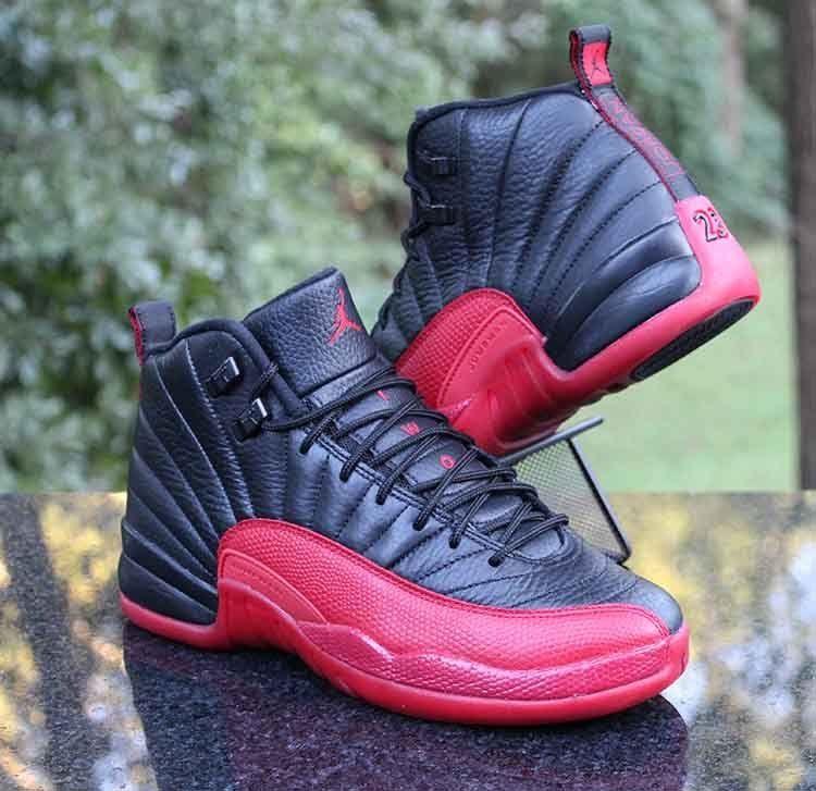 sports shoes b1a6b 97bc6 Air Jordan 12 Retro BG Flu Game Black Varsity Red 153265-002 Size 7Y  Jordan   BasketballShoes