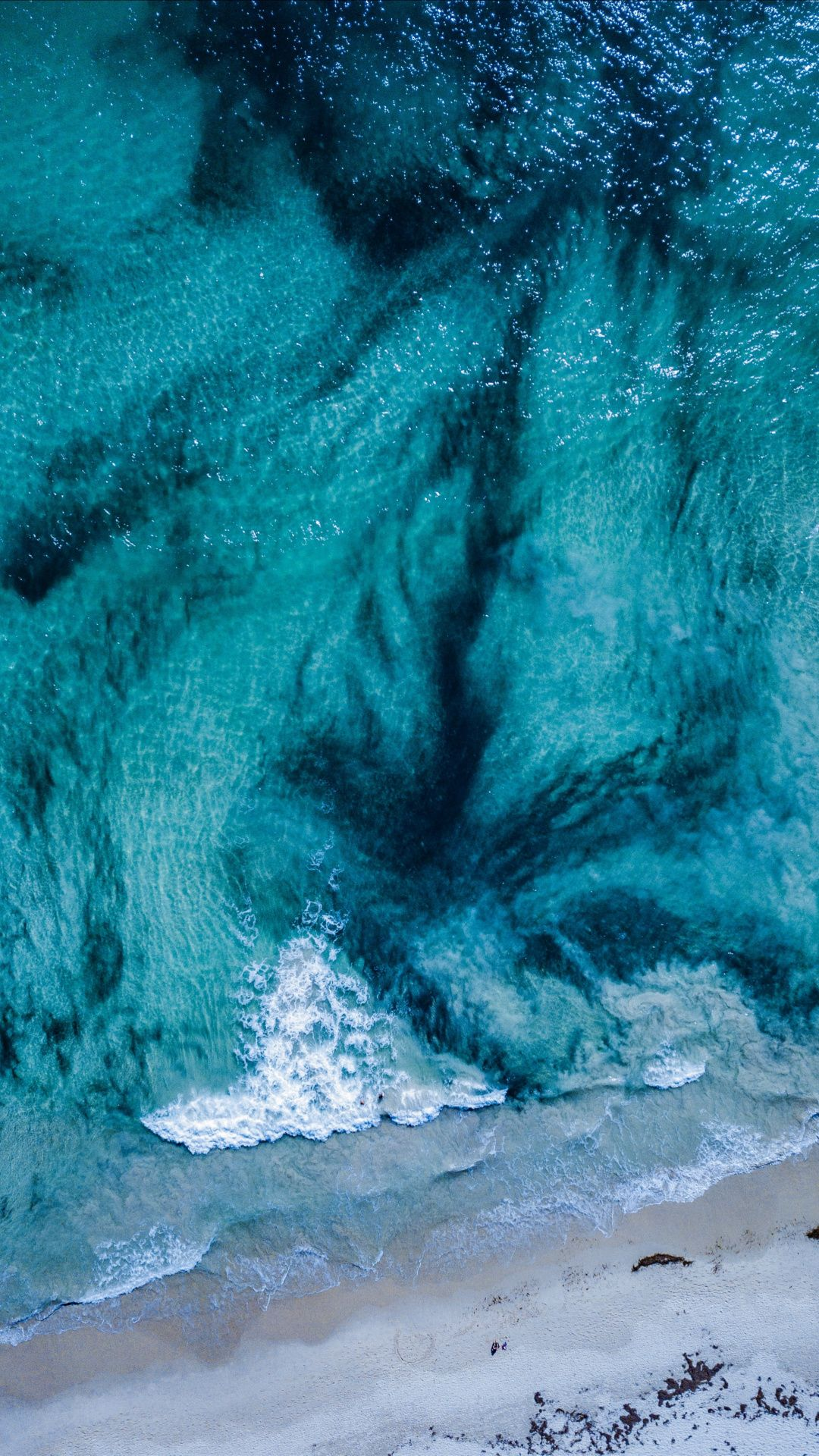 Downaload Blue Sea Waves Surf Aerial View Wallpaper For Screen 1080x1920 Samsung Galaxy S4 S5 Note Sony Xperia Z View Wallpaper Surfing Waves Sea Waves