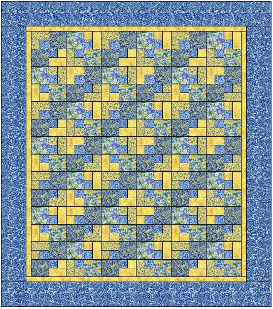 Blue Lake Beach Quilt - free pattern at Sentimental Stitches ... : blue and yellow quilt - Adamdwight.com
