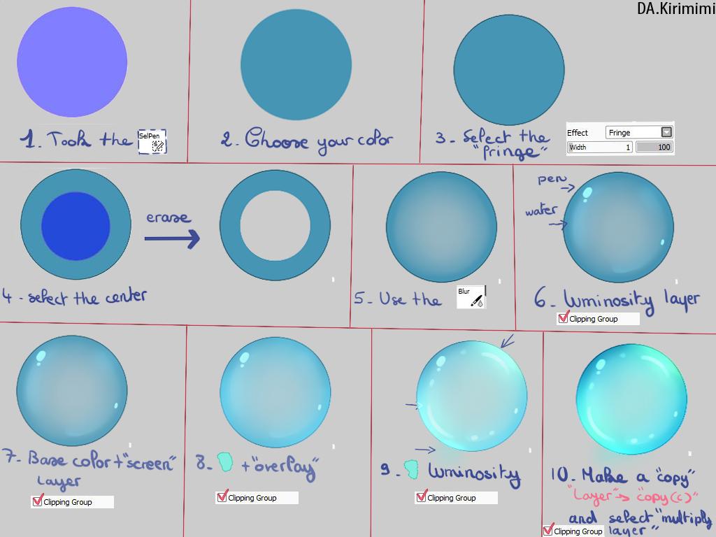 How To Draw Bubbles? Now, You Know Sai Tutorial Bubble Sai