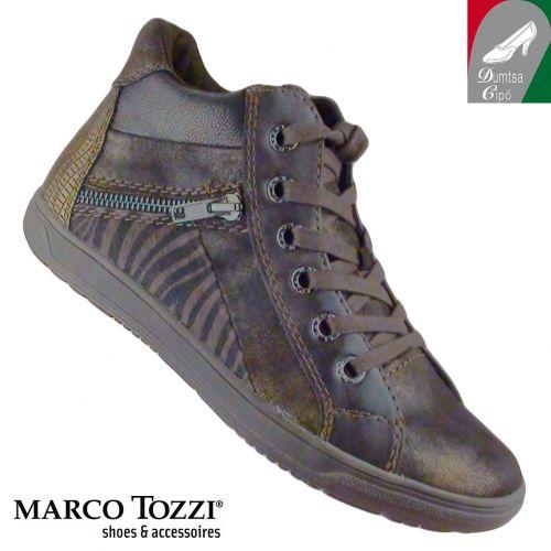 Marco Tozzi női bokacipő 2-25231-25 395 antikolt mocca kombi  e6b21d41e7