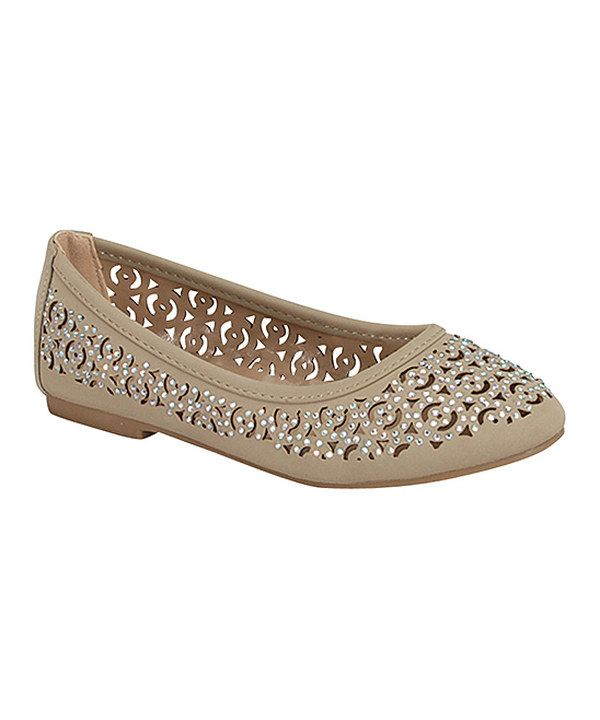 Look at this Link Taupe Diana Flat on #zulily today!
