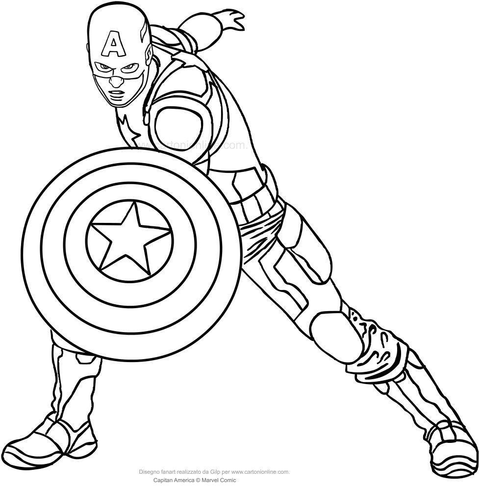 Captain America For Coloring Buscar Con Google Captain America Coloring Pages Avengers Coloring Pages Cartoon Coloring Pages