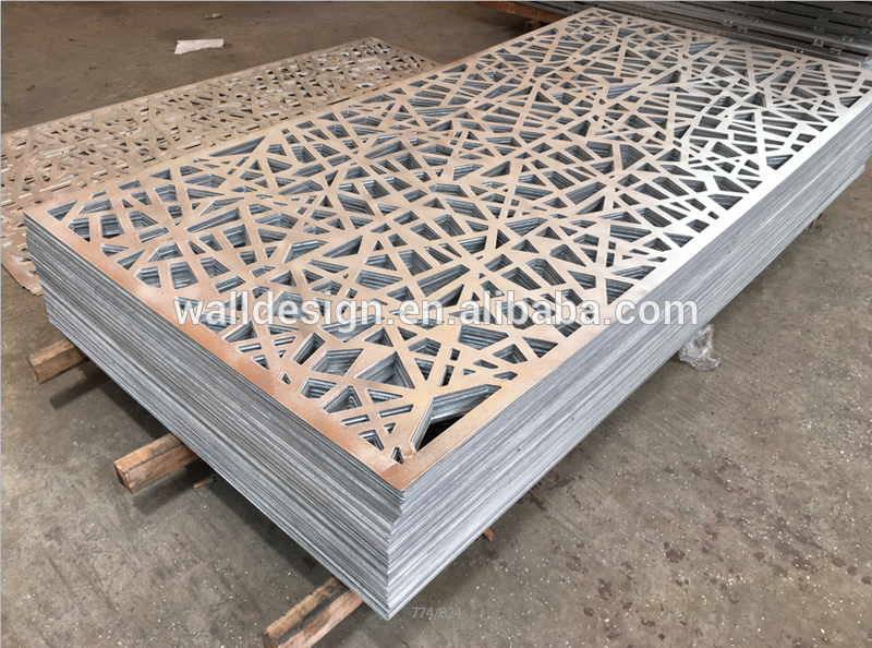 Outdoor Screen Panel Used For Park Garden Wall Decoration Perforated Metal Panel Metal Screen Metal Panels