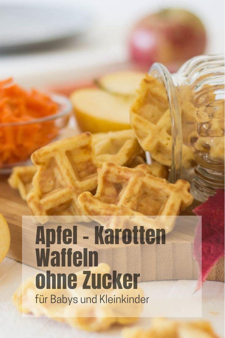 Apfel-Karotten-Waffeln – ohne Zucker ⋆ Lieblings-Blog für zwei * Mütter und Lebensmittel   – Zuckerfreie Rezepte für Babys und Kleinkinder
