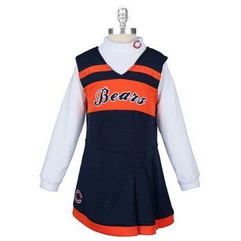 buy popular be2f7 dbd7d NFL Team Apparel Girls 4-6x Chicago Bears Cheerleader Outfit ...
